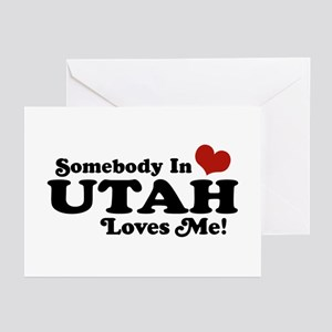 Somebody In Utah Loves Me Greeting Cards (Pk of 10