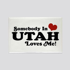 Somebody In Utah Loves Me Rectangle Magnet