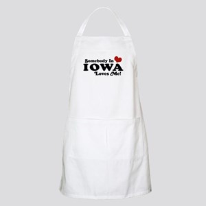 Somebody In Iowa Loves Me BBQ Apron