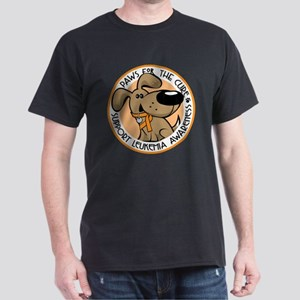 Paws for the Cure: Leukemia Dark T-Shirt