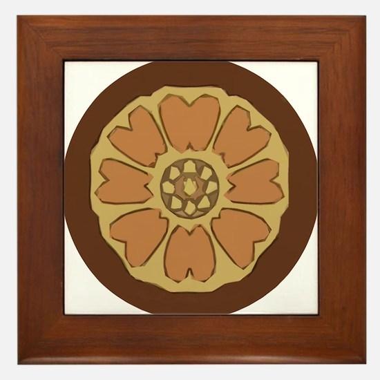 White Lotus Framed Tile