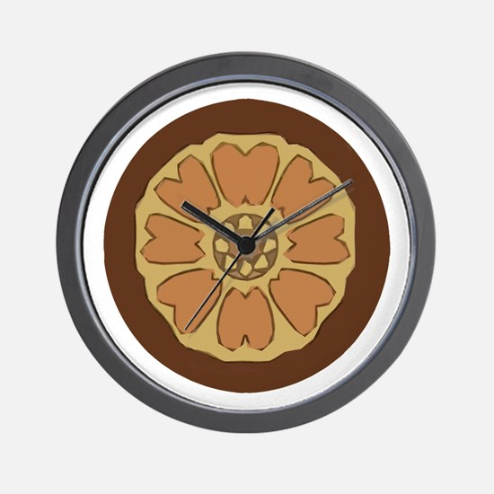 White Lotus Wall Clock