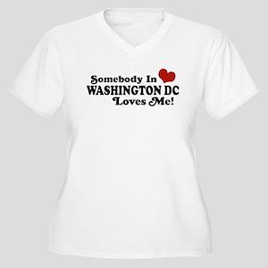 Somebody In Washington DC Women's Plus Size V-Neck