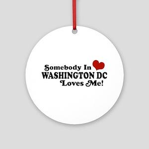 Somebody In Washington DC Ornament (Round)