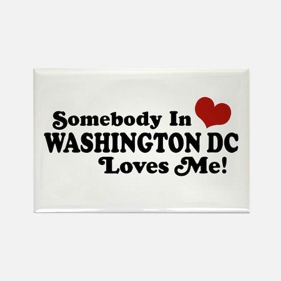 Somebody In Washington DC Rectangle Magnet