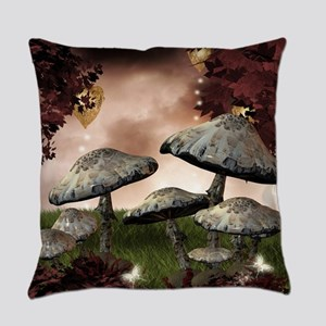 Autumn Mushrooms Everyday Pillow