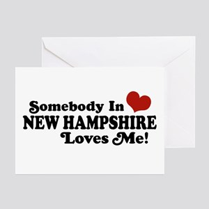 Somebody In New Hampshire Loves Me Greeting Cards