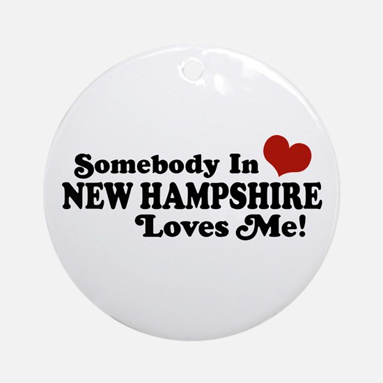 Somebody In New Hampshire Loves Me Ornament (Round