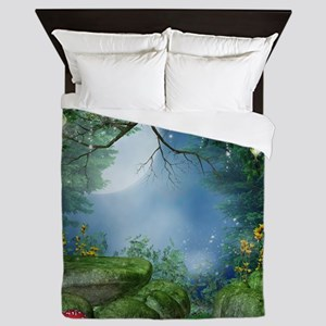 Enchanted Summer Night Queen Duvet