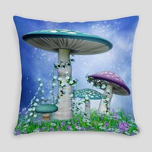 Spring Mushrooms Everyday Pillow