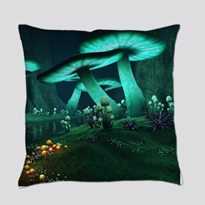 Luminous Mushrooms Everyday Pillow