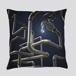 Water Pipeline Maze Everyday Pillow