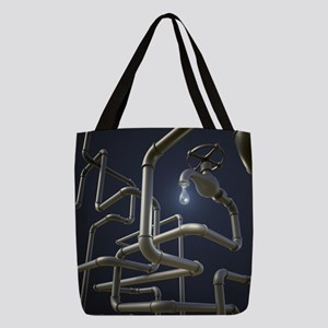 Water Pipeline Maze Polyester Tote Bag
