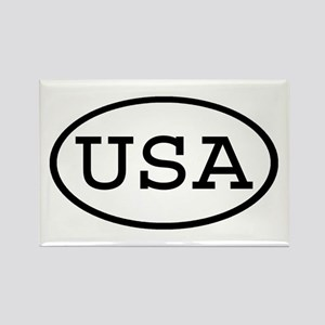 USA Oval Rectangle Magnet