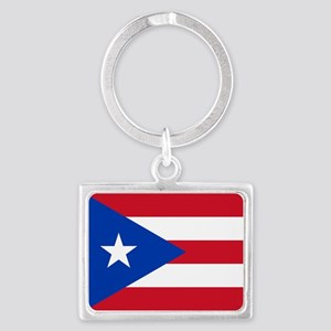 Flag of Puerto Rico Keychains