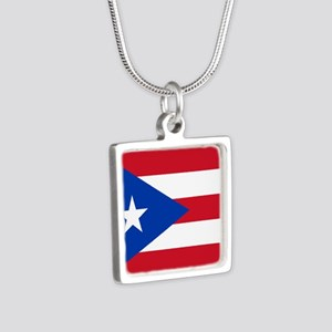 Flag of Puerto Rico Necklaces