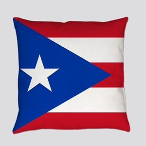 Flag of Puerto Rico Everyday Pillow