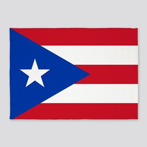 Flag of Puerto Rico 5'x7'Area Rug