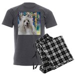 Chinese Crested Painting Men's Charcoal Pajamas
