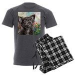 Chihuahua Painting Men's Charcoal Pajamas