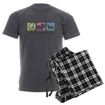 peacedogs Men's Charcoal Pajamas