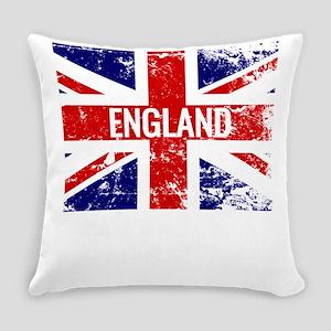 Union Jack Distressed England Flag Everyday Pillow
