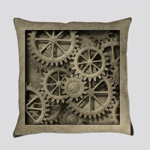Steampunk Cogwheels Everyday Pillow