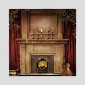 Classic Fireplace Queen Duvet