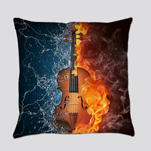 Fire and Water Violin Everyday Pillow