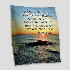 MATTHEW 19:26 Burlap Throw Pillow