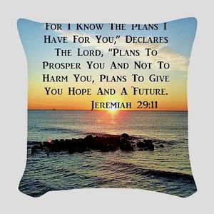 MATTHEW 19:26 Woven Throw Pillow