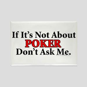 Poker Rectangle Magnet