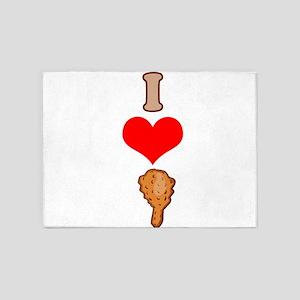 I heart Fried Chicken 5'x7'Area Rug