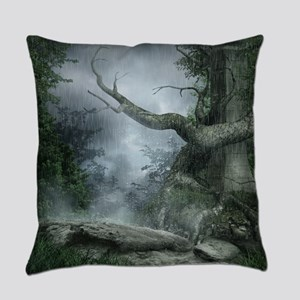 Rainy Forest Everyday Pillow