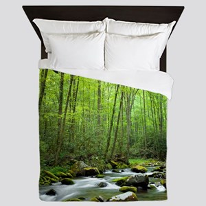 Spring Forest Stream Queen Duvet