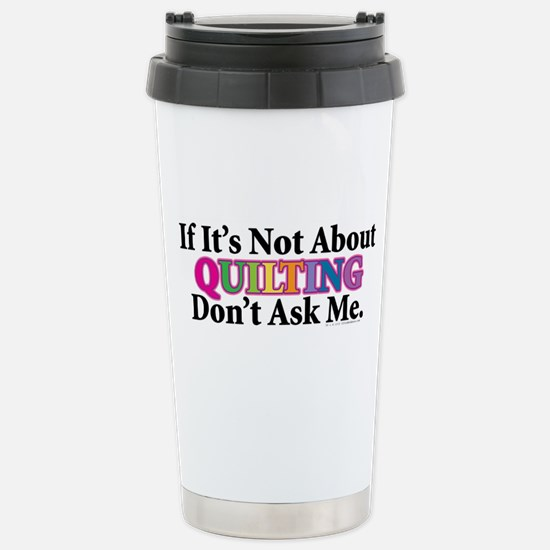 Quilting Stainless Steel Travel Mug