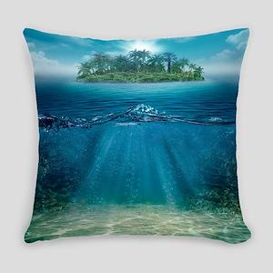 Tropical Island Seabottom Everyday Pillow