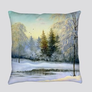 Beautiful Winter Painting Everyday Pillow