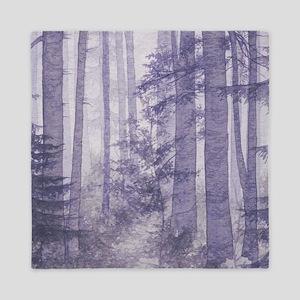 Purple Misty Forest Queen Duvet