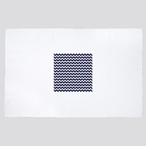 Dark Blue Chevrons 1 4' x 6' Rug