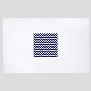 Dark Blue Chevron Pattern 2 4' x 6' Rug