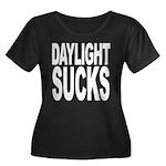 Daylight Sucks Women's Plus Size Scoop Neck Dark T