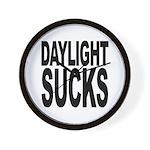 Daylight Sucks Wall Clock
