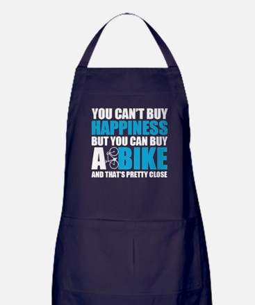 You Can Buy A Bike T Shirt Apron (dark)