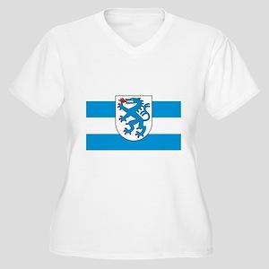 ingolstadt seal Womes Plus-Size V-Neck T-Shirt