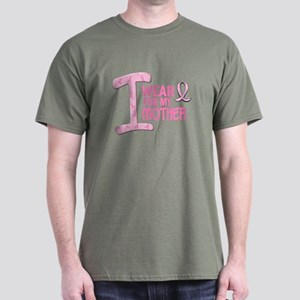 I Wear Pink For My Mother 21 Dark T-Shirt