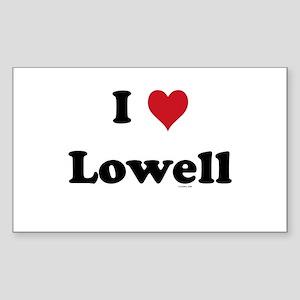 I love Lowell Rectangle Sticker