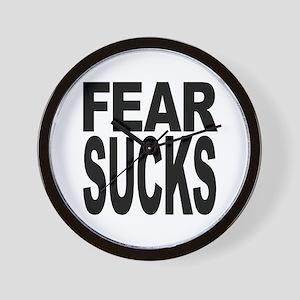 Fear Sucks Wall Clock