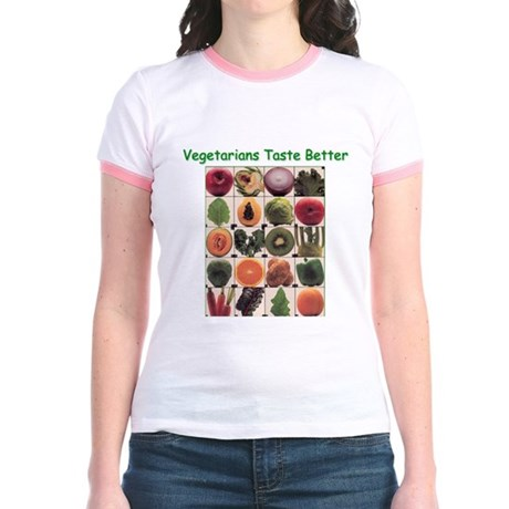 Veg*ns Taste Better Jr. Ringer T-Shirt
