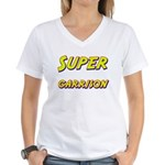 Super garrison Women's V-Neck T-Shirt